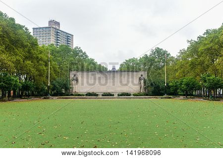 Brooklyn War Memorial in Brooklyn's Cadman Plaza is dedicated to the more than 300000