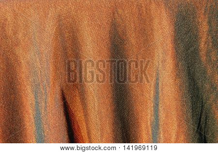 close up of slip cloth ruffle texture and background
