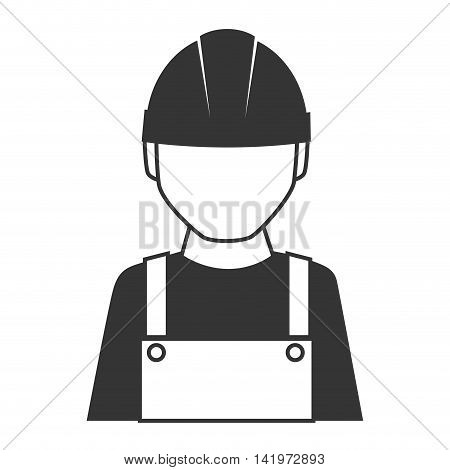 builder construction worker helmet man coverall vector graphic isolated and flat illustration