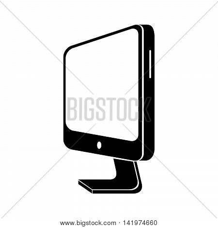 monitor pc computer screen device technology computer vector graphic isolated and flat illustration