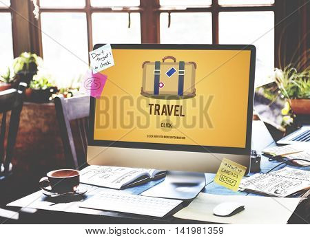 Tourism Travel Wanderlust Vacation Laggage Concept