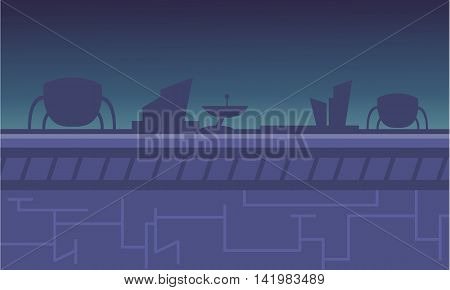 Backgrounds game alien spacecraft vector for stock collection
