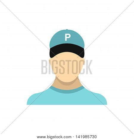 Valet parking icon in flat style isolated on white background