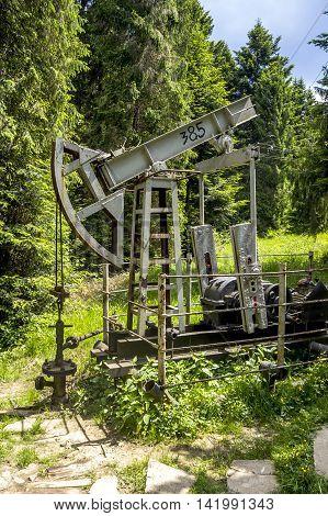 old oil pump at Schidnica L'viv region Ukraine