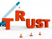 Build Trust Showing Believe In And Building 3d Rendering poster
