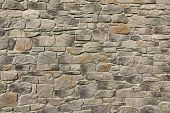 Modern Textured Grey Yellow Stonewall Made From Flagstone And Sandstone Slabs Background Bumpy Stone Wall Texture Rocky Structure Backdrop poster