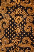 Detail of a batik design from Indonesia poster