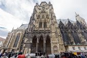 St Stephan Cathedral in Vienna Austria on November 2015 poster