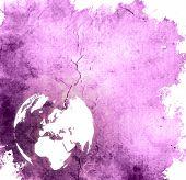 aged Europe map-grunge artwork poster