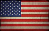 wood flag of america poster