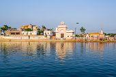 The Holy Lake of Radha-Kunda in Vrindavan, North India poster