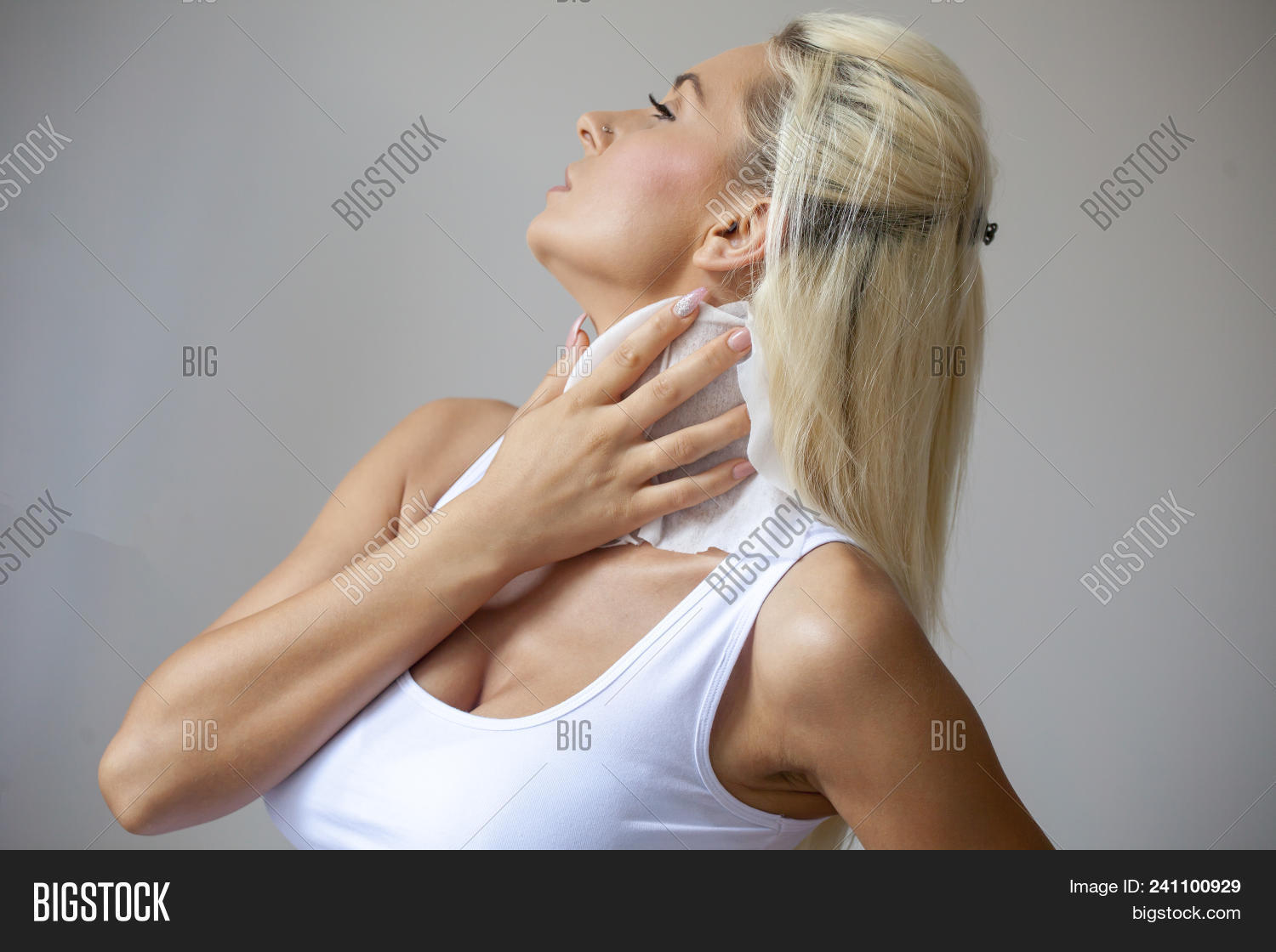 Woman Clean Neck Wet Image   Photo (Free Trial)  a60428ea3