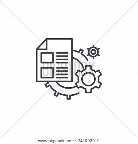 Analytical System Line Icon, Vector Illustration. Analytical System Linear Concept Sign.