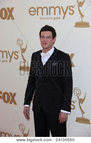 LOS ANGELES - SEP 18: Cory Monteith at the 63rd Annual Primetime Emmy Awards held at Nokia Theater L.A. LIVE on September 18, 2011 in Los Angeles, California