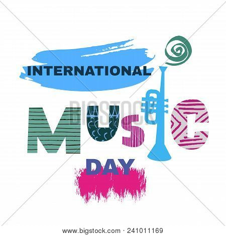 International Music Day. Template Design Poster? Banner. Vector Illustration.
