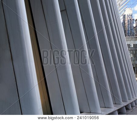Urban Geometry, Modern Architecture. Abstract Architectural Design. Industrial Design. Modern Buildi