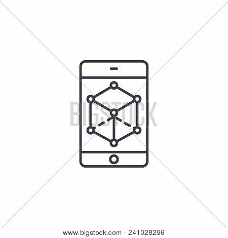 Business Perspective Line Icon, Vector Illustration. Business Perspective Linear Concept Sign.