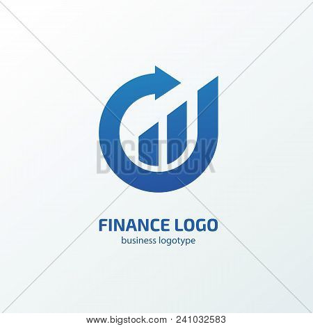 Vector Design Logo Finance And Investment. Graph And Chart Pictogram, Analytic Abstract Icon