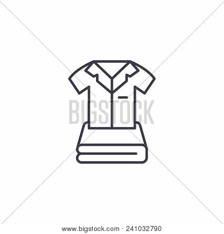 Clothes Line Icon, Vector Illustration. Clothes Linear Concept Sign.