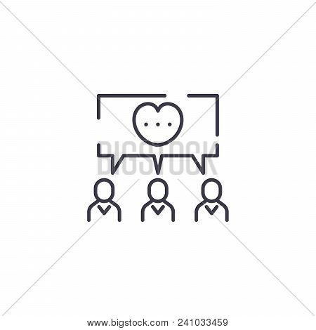 Common Cause Line Icon, Vector Illustration. Common Cause Linear Concept Sign.