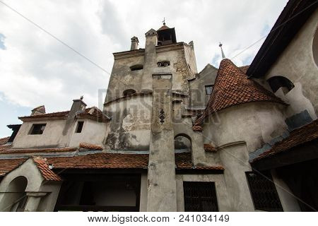 Bran, Romania - July 20 2017: The Medieval Castle Of Bran. The Castle Guarded In The Past The Border
