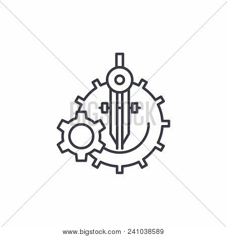 Development System Line Icon, Vector Illustration. Development System Linear Concept Sign.