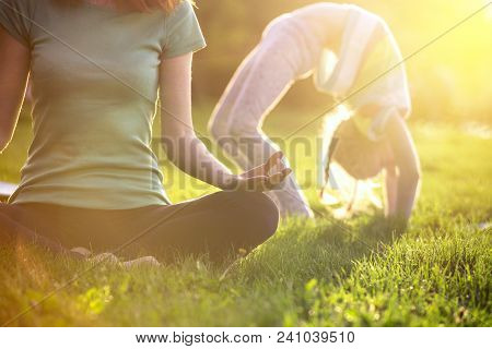 Healthy And Yoga Concept