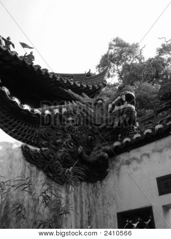 Dragon Wall In Shanghai Palace