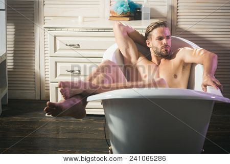 Relax Man In Bath, Relaxing. Relax, Relaxing, Relaxation, Pleasure.