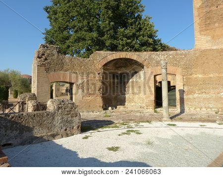 The Ruins And Remains Of An Ancient Roman City Of Lazio - Italy 0156