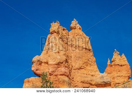 The Rugged Landscape Of Bryce Canyon National Park Utah In Winter