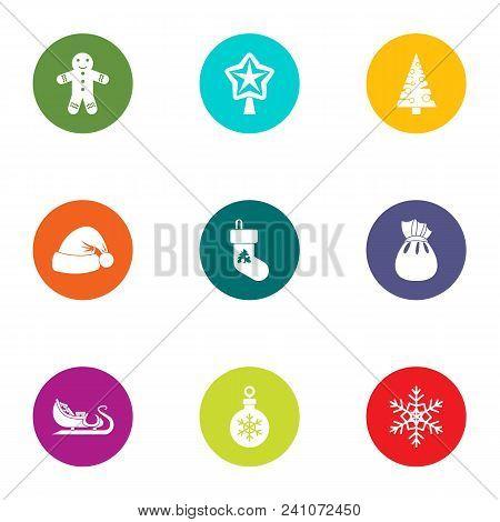 Yuletide Icons Set. Flat Set Of 9 Yuletide Vector Icons For Web Isolated On White Background