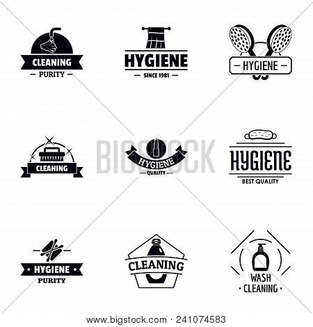Body Hygiene Logo Set. Simple Set Of 9 Body Hygiene Vector Logo For Web Isolated On White Background