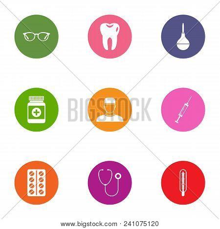 Medical Intervention Icons Set. Flat Set Of 9 Medical Intervention Vector Icons For Web Isolated On