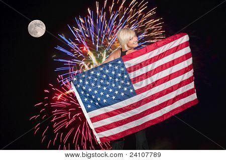 Fireworks At Full Moon