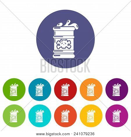 Barrel Icon. Simple Illustration Of Barrel Vector Icon For Web