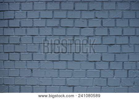 Dark Gray Stone Texture Of A Brick Wall