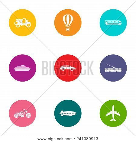 Carriage Icons Set. Flat Set Of 9 Carriage Vector Icons For Web Isolated On White Background