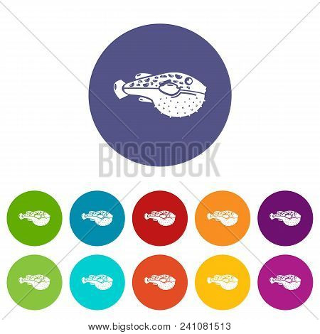 Poison Fish Icon. Simple Illustration Of Poison Fish Vector Icon For Web