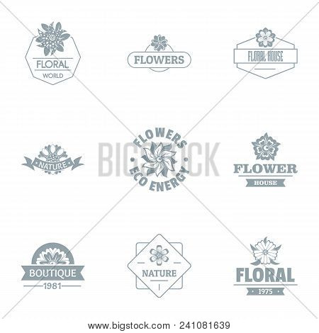 Florist Logo Set. Simple Set Of 9 Florist Vector Logo For Web Isolated On White Background