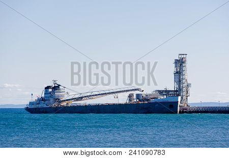 Mississauga, Canada - September 30, 2017: The Self-unloading Bulk Carrier Robert S. Pierson Is Docke