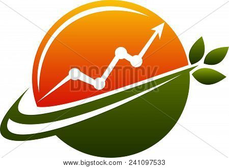 Business Growth Logo Design Template Isolated Vector