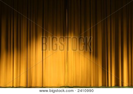 Golden Stage Curtains