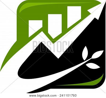 Financial Growth Logo Design Template Isolated Vector