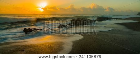 Rays Of Life: Sunrise At Blowing Rocks Beach, Jupiter, Florida