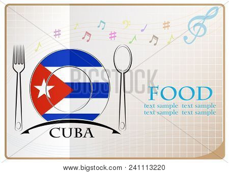 Food Logo Made From The Flag Of Cuba