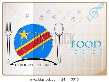 Food Logo Made From The Flag Of Democratic Republic