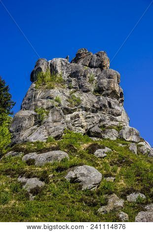 The Place Of Tustan Fortress - A Medieval Cliff-side Fortress-city, Archaeological And Natural Monum