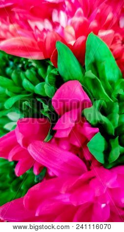 a boquet of bright neon dyed flowers are filling the screen poster