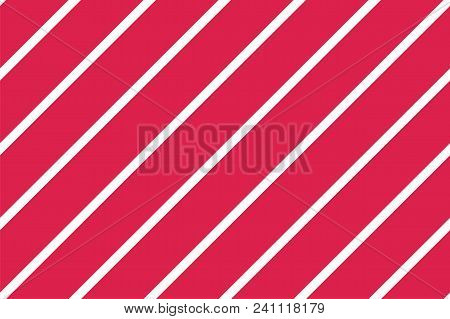 Seamless Pattern. Pink-red Stripes On White Background. Striped Diagonal Pattern For Printing On Fab